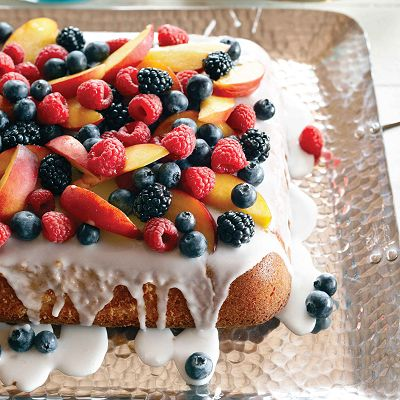 Our Vanilla cake recipe with summer fruit is one of our most popular fresh desserts to date. Find more recipes for summer fruit at Chatelaine.com.