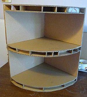 gabinetes de esquina del cartón: