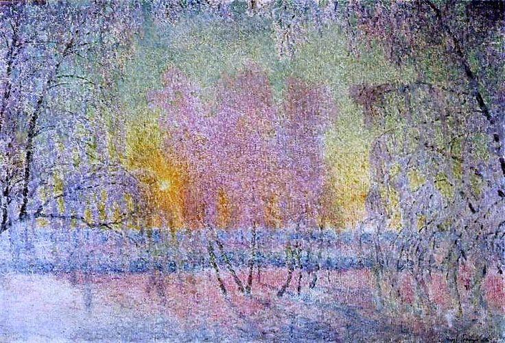 Le gel et le lever de soleil, 1908 de Igor Emmanuilovich Grabar (1871-1960, Hungary)