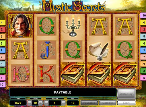 Online Slot Mystic Secrets Deluxe for real money. This colorful slot machine from the Novomatic company has  the fantasy style. It has a detailed and high-quality rendering, so play it pretty exciting. All the actions in this slot are on the 5 reels. There are 10 pay lines, but the player is given a choice of the amount for each rotation. Also in