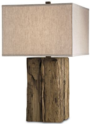 Rustic Modern Bucolic Table Lamp. From Filament Lighting                                                                                                                                                                                 More
