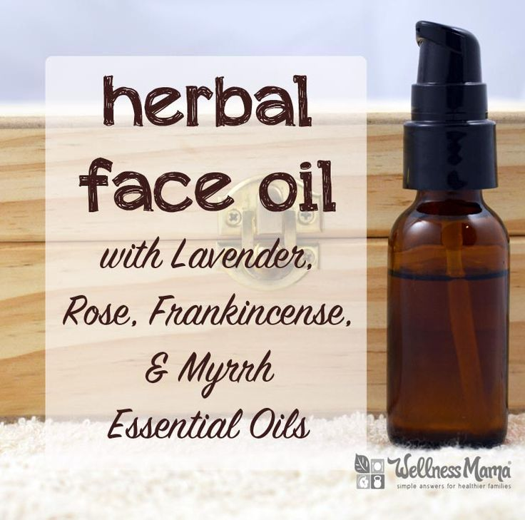 I LOVE this stuff! This amazing herbal face oil recipe uses Argan oil with essential oils like frankincense, myrrh, rose, and lavender to nourish and smooth skin.