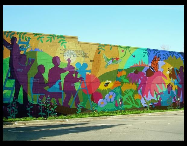 17 best images about places lfk on pinterest langston for Community mural