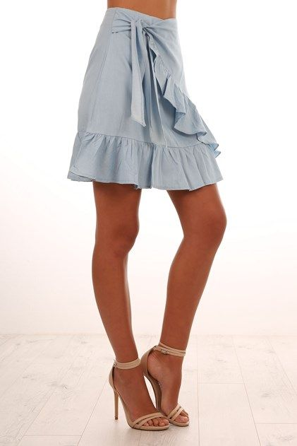 Submerged Skirt Light Blue