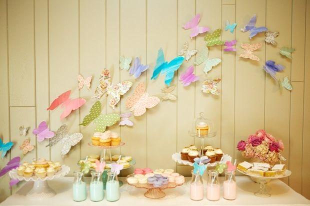 Schmetterlinge Deko Ideen selber machen Papier Pflanzen
