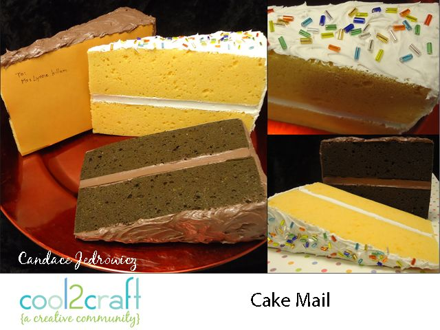 18 best Mail a cake images on Pinterest Cake slices Craft and Diy