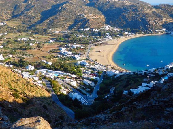 Winter beach, Mylopotas Ios island