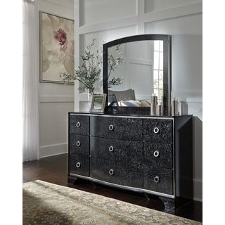 Shop for Signature Design by Ashley Amrothi Black Dresser with Mirror. Get free shipping at Overstock.com - Your Online Furniture Outlet Store! Get 5% in rewards with Club O!