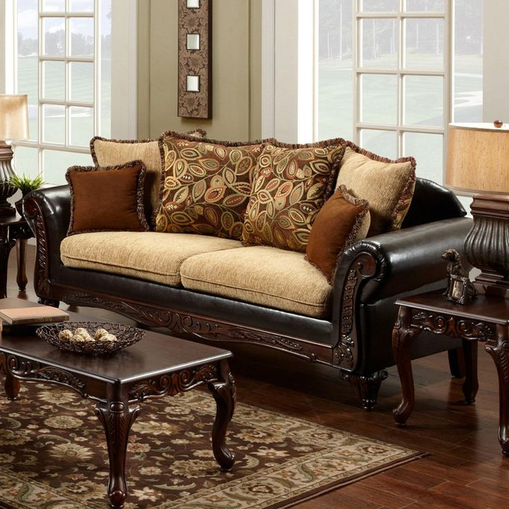 Chelsea Home Trixie Upholstered Sofa Bring