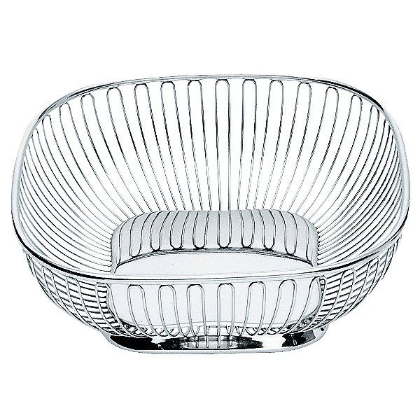 Alessi Stainless Steel Square Wire Basket By Ufficio Tecnico
