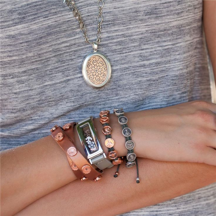 ROSE GOLD METALLIC SIGNATURE SOUTH HILL WRAP #stacking #bracelets