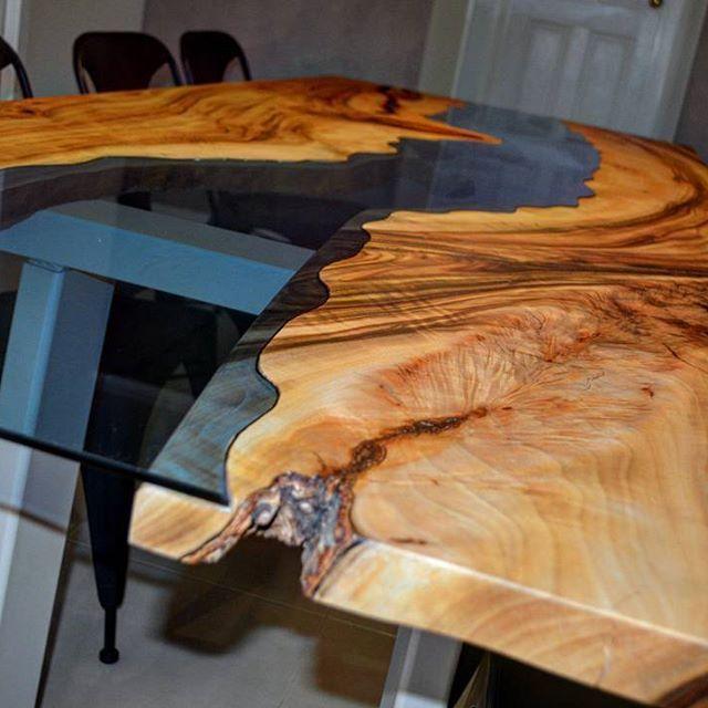That glass waterway...  www.wildaboutwood.com.au #luxuryfurniture #madeforlife #australianmade #melbs #melbournemade #melbournehomes #timberporn #timberlove #creative #supporthandmade #furnituremaker #makers #makersgonnamake #smallbiz #handmadeshop #australiandesign #australiantimber #wood #woodworking #finewoodwork #homerenovation #modernliving #modern #candyman #work #workspace #designporn #instadesign #instagood #diningroom