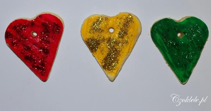 baking soda clay crafts - Valentine ornaments --------------------- masa plastyczna - masa sodowa. Dekoracje Walentynkowe