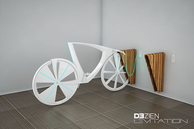 Concept Bike Can Charge Devices And Cars Levitation Electricity Bike
