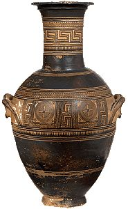 Double-handled amphora, Athens, 850-800 BC, National Archeological Museum