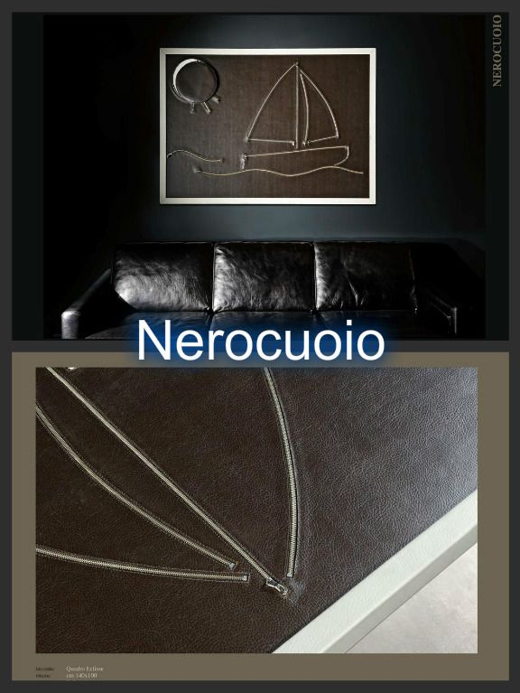 Leather , hand made ship frame by Nerocuoio  #Luxury #Products