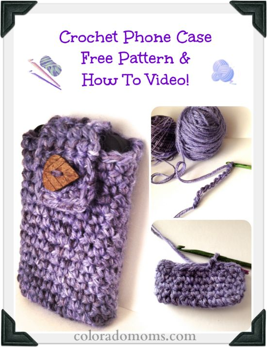 Free Crochet Phone Case Pattern (with How To Crochet Video!)