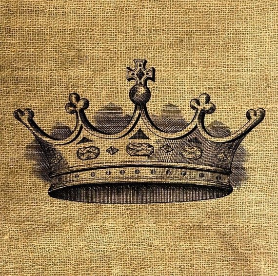 INSTANT DOWNLOAD  Vintage Crown Illustration Download by room29, $1.00