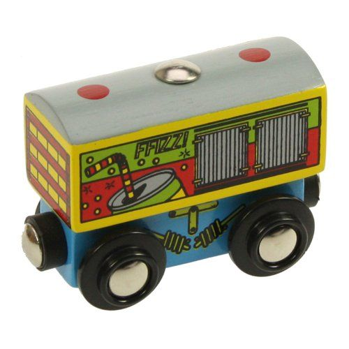 Bigjigs Rail BJT433 Single Wooden Train Rolling Stock Soft Drink Wagon *** More info could be found at the image url. (Note:Amazon affiliate link)