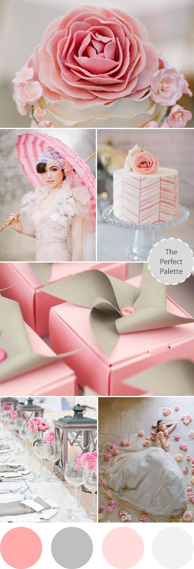 Dreamy 'I Do's: Shades of Pink + Gray http://www.theperfectpalette.com/2013/07/dreamy-i-dos-shades-of-pink-gray.html