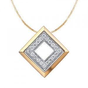 1/4 Carat Diamond Pendant on 10k Yellow Gold
