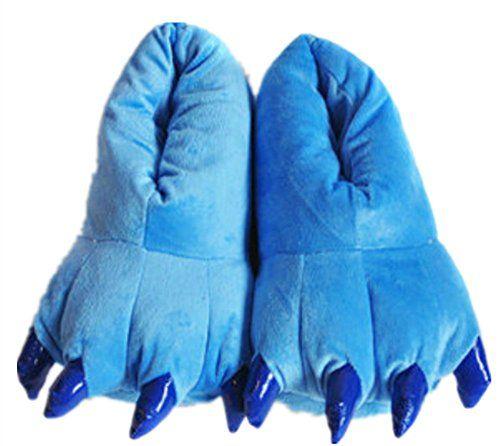 Wealsex Pyjama Combinaison Animaux Cosplay Costumes Halloween Slipper Pantoufle Enfant Unisexe(pantoufles bleu,taille 34-38): * Doux et…