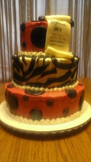 Graduation cake for a high school student!: High Schools Students, Graduation Cakes, Cupcakes Food, Cakes Gradu, High School Students