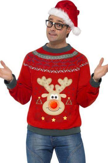 Smiffys Adult Mens Christmas Jumper Embroidered Badges And LED Lights 1 220x330 Choosing the perfect Christmas Jumper