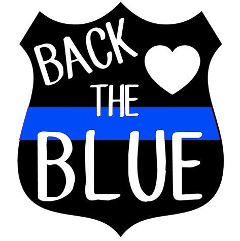 A personal favorite from my Etsy shop https://www.etsy.com/listing/461809660/back-the-blue-police-decal