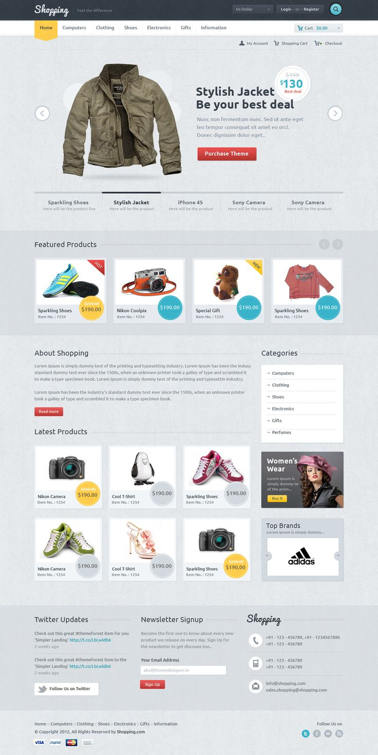 12 Examples of Minimal  Clean E-Commerce Design