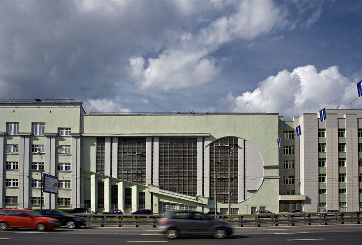 """Гараж """"Интуриста"""" на Сущевском вал,Константин Мельников, 1934"""