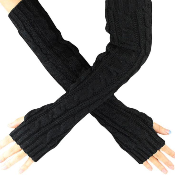 2016 hommes fashion designer 6 Kleuren Hennep Bloemen Vingerloze Handschoenen Gebreide Lange Handschoenen Guanti invernali Vrouwen Winter Handschoen Y10