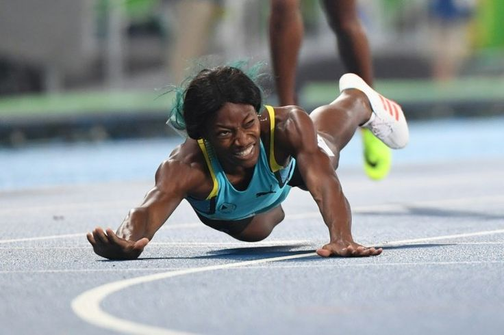 The United States' Allyson Felix was the first sprinter to run through the finish line in the women's 400-meter final on Monday night. But the 29-year-old American wasn't the first to cross it. Shaunae Miller of the Bahamas took gold after she fell—or maybe dove—across the line as ...