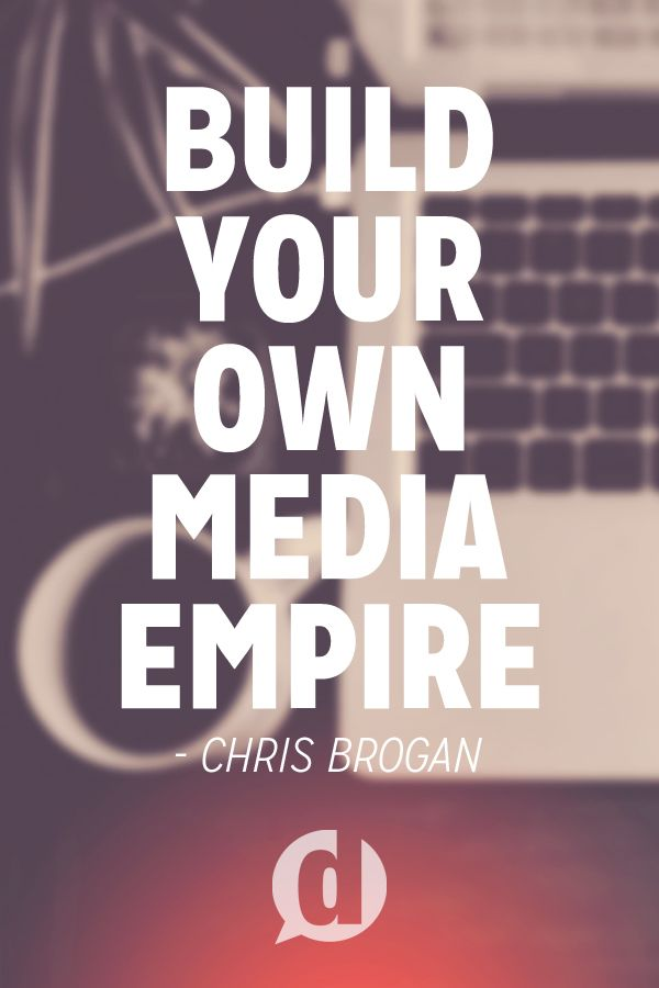 Chris Brogan talks about building your own media empire at Social Media Marketing World 2014.