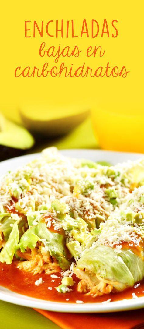 No te sientas culpable con estas deliciosas enchiladas bajas en carbohidratos, son tan ricas que al comerlas no extrañarás las tortillas y lo mejor es que estás evitando muchas calorías innecesarias, serán tus favoritas.