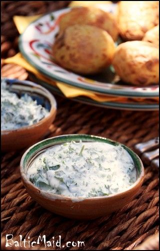 Foil Potatoes with German Herb Quark