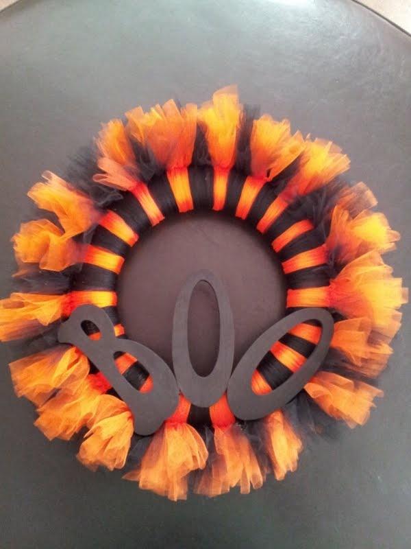 Halloween tutu wreath $25