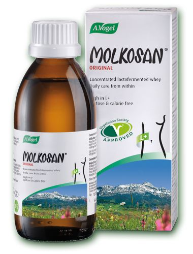 Molkosan    - Prebiotic  - Rich in L+ lactic acid supporting good gut bacteria  - Made from organic milk  200ml - £5.65 500ml - £10.95