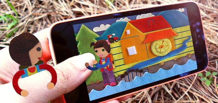 """Poster for my Cestička(Little road) project, kids app, cutouts, 2015/16"""