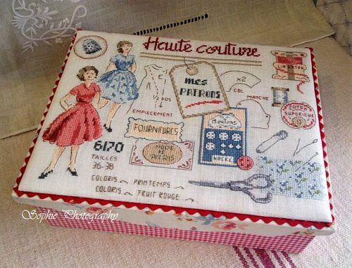 Dames françaises à coudre boîte de tissu - Bonjour Ca va La vie est belle -?? Yahoo! Blogs