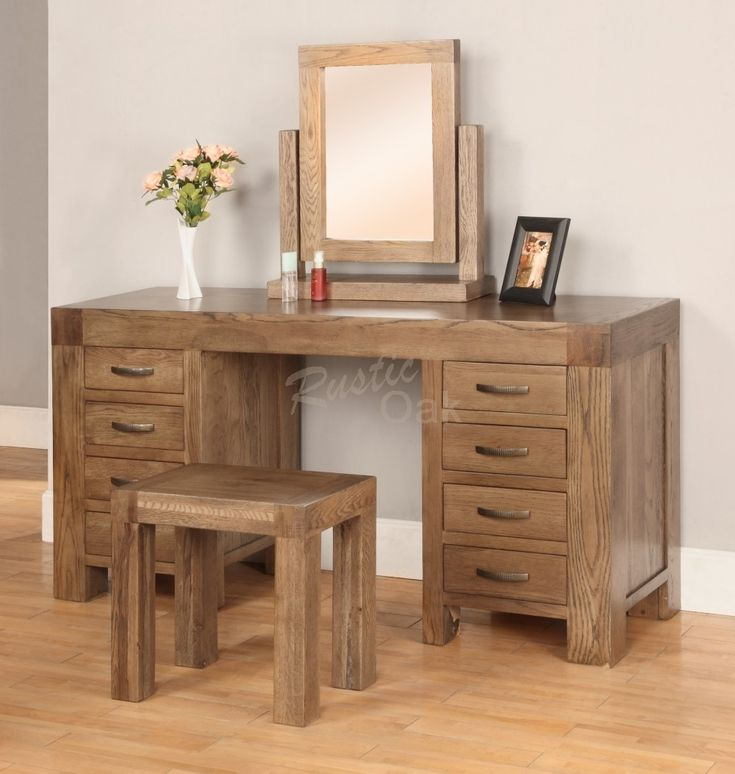 Santana Dressing Table - Rustic Oak Furniture