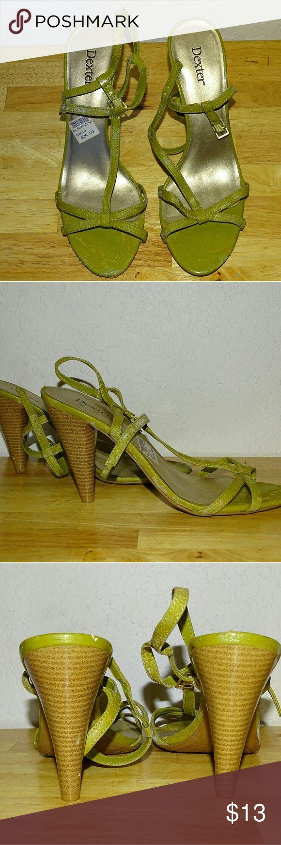 Dexter Sage Green High Heels Size 10 Dexter Sage Green High Heels Size 10 Dexter Shoes Sandals