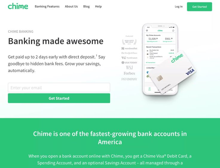 Chime is mobile banking app offering checking and savings
