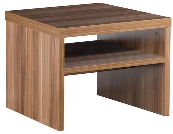 Tavolo soggiorno basso quadrato elegante colore pruno art for Centro tavolo moderno