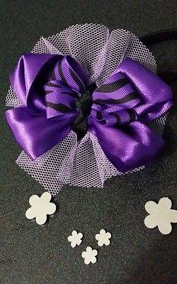 Girls boutique bow headband/ bows / zerba print /hair accessories