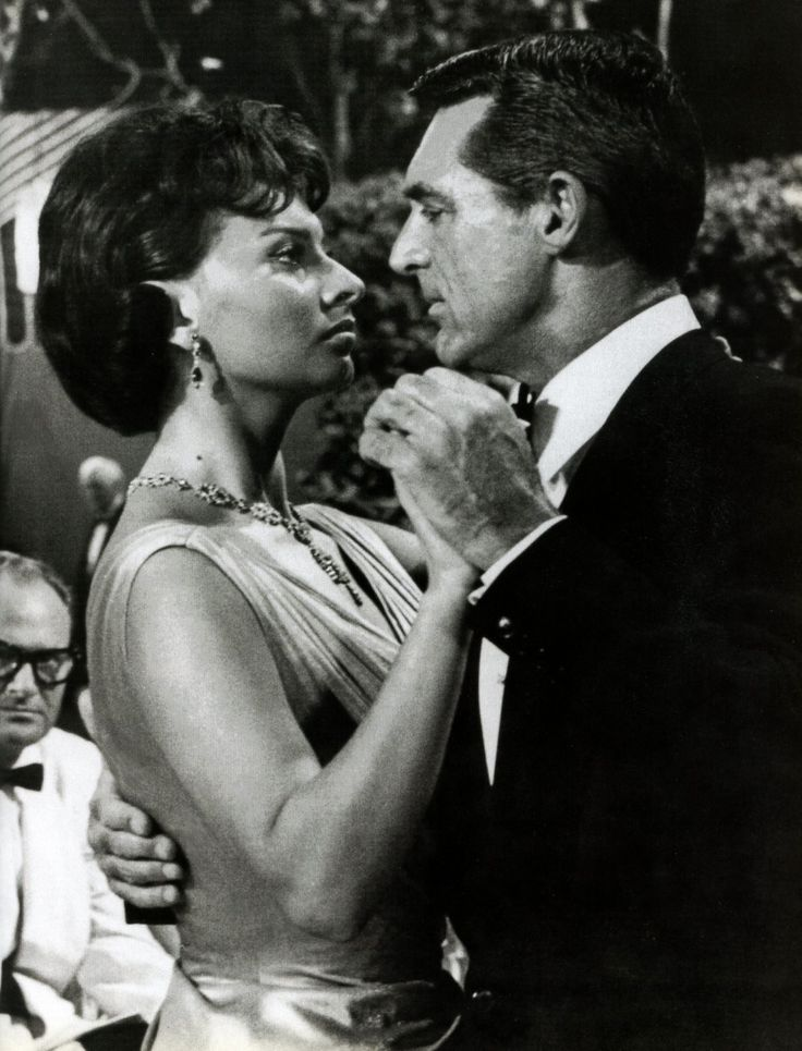 Sophia Loren & Cary Grant from the movie Houseboat. It was a favorite movie and they were great in it.