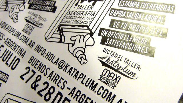 un poco del registro en movimiento de todo lo que hacemos en kataplum...  serigrafia, diseo, arte, y mucho ms...  registration a bit of movement in everything we do kataplum...  silkscreen printing, design, art, and more...