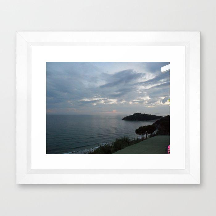 #Society6 Gaeta Sea View Framed Art Print