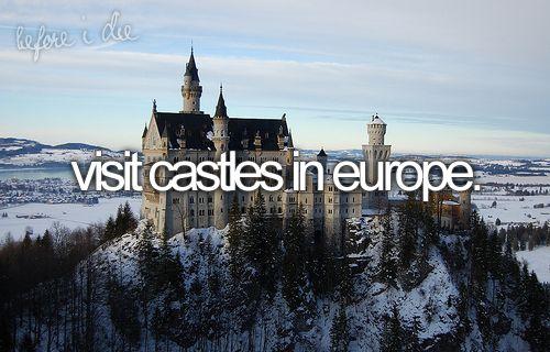 bucket list: Visit a castle. ✈