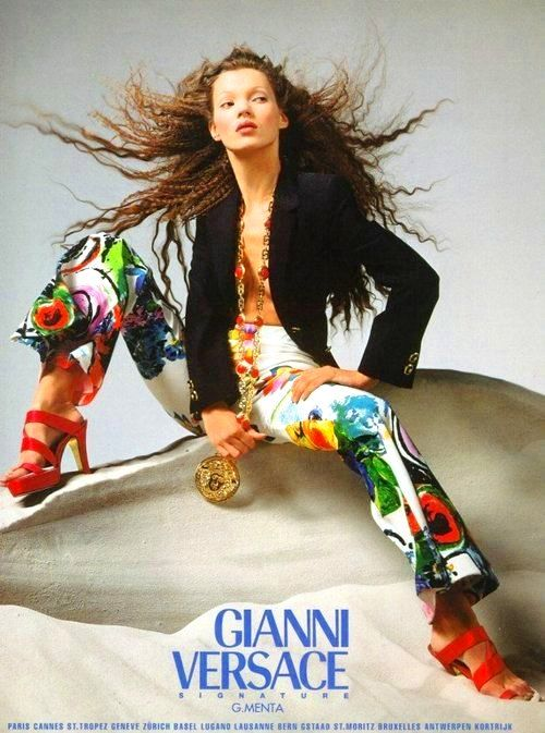 ROCK...never goes out of Style....Kate Moss for Gianni Versace